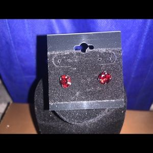 Jewelry - Ruby Round Earrings